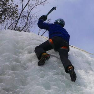 I used a living social deal to do a full day intro to ice climbing.