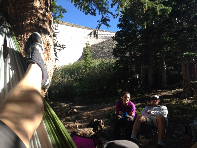 We relaxed for a few minutes after setting up camp
