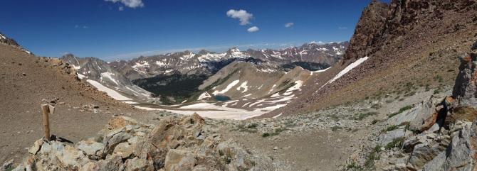 Looking across toward maroon bells / snowmass/ pyramid peak