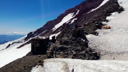 The bunkhouse and guide shack at Camp Muir