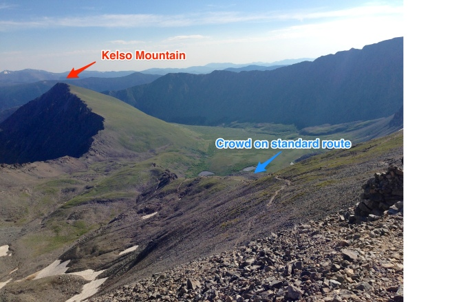 A look at Kelso Mountain from the standard route