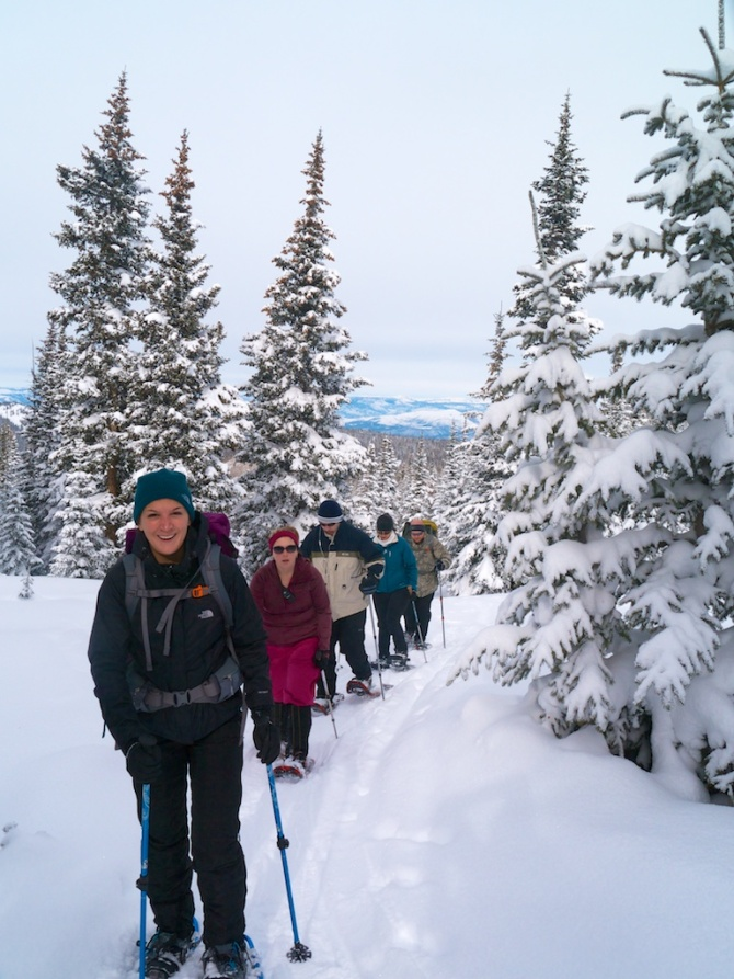 The group nears timberline